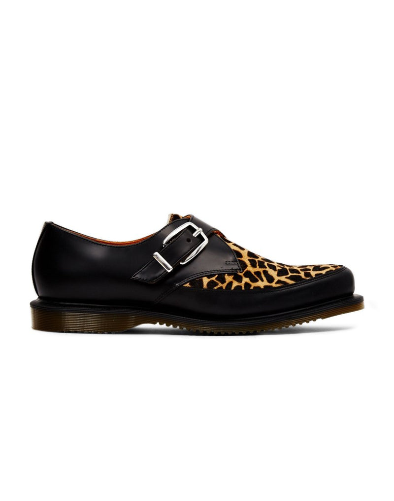 Dr Martens - Archive Hawley Leopard Monk Strap Creeper Black