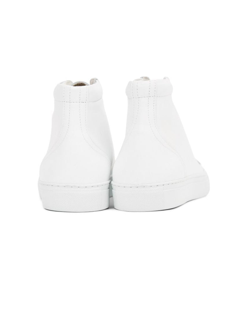 Garment Project - Legend High Top Leather Trainer White