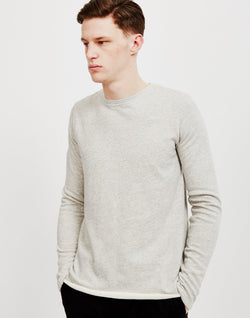 Edwin - Terry Long Sleeved T-Shirt Grey