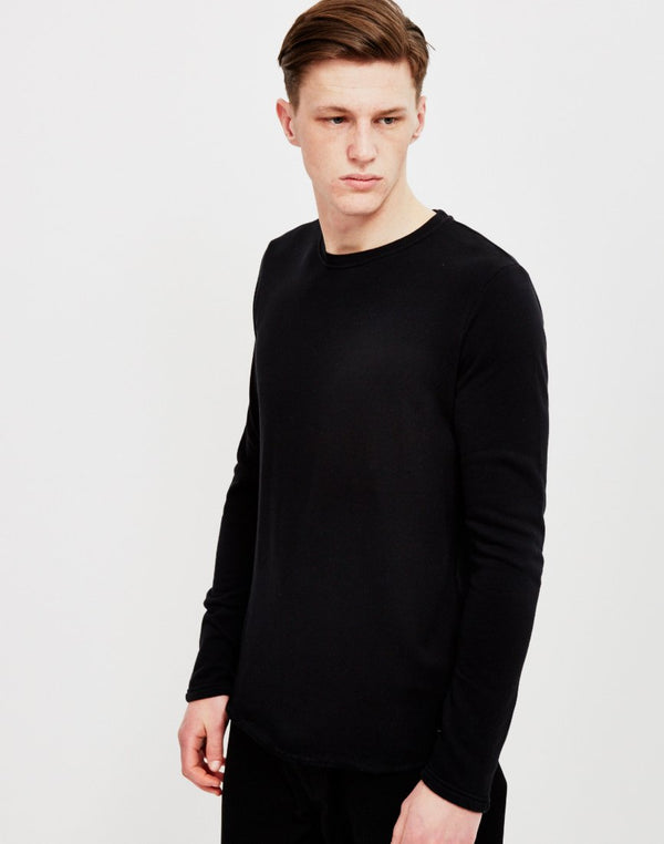 Edwin - Terry Long Sleeved T-Shirt Black