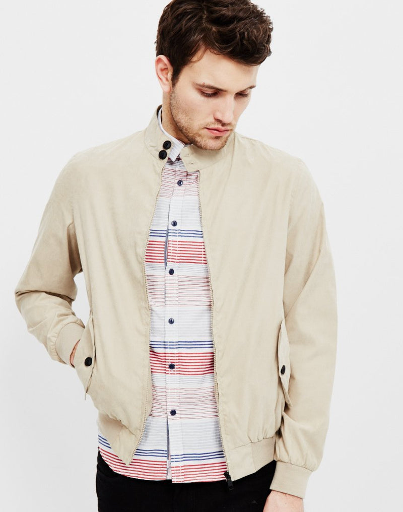 The Idle Man - Classic Harrington Jacket Stone