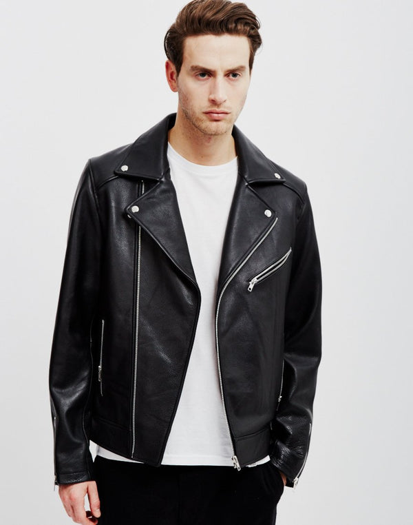 The Idle Man - Leather Biker Black