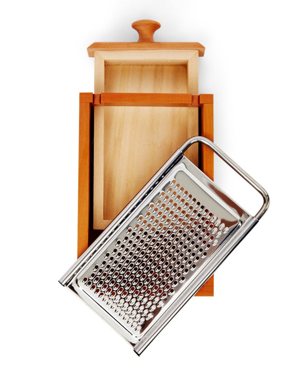 Alessi - Pear Wood Flat Cheese Grater Brown