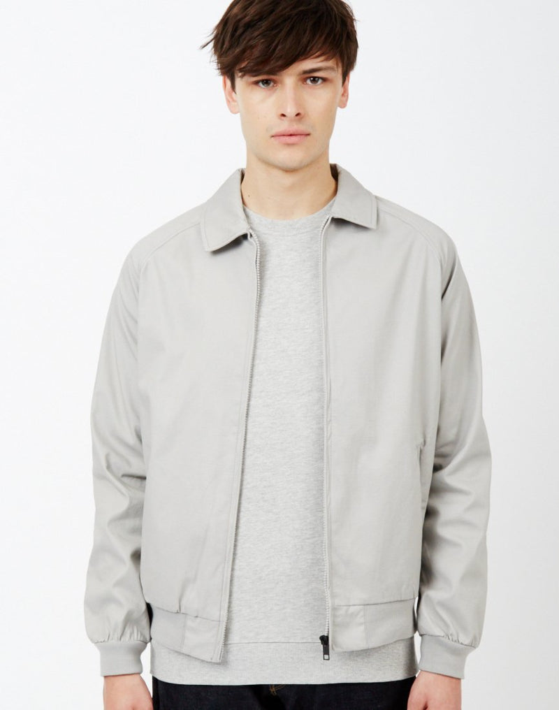 The Idle Man - Nylon Harrington Jacket Grey