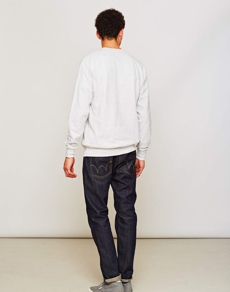 The Idle Man - Perfect Sweatshirt Grey Marl