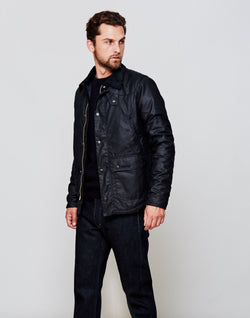 Barbour - Reelin Wax Jacket Navy