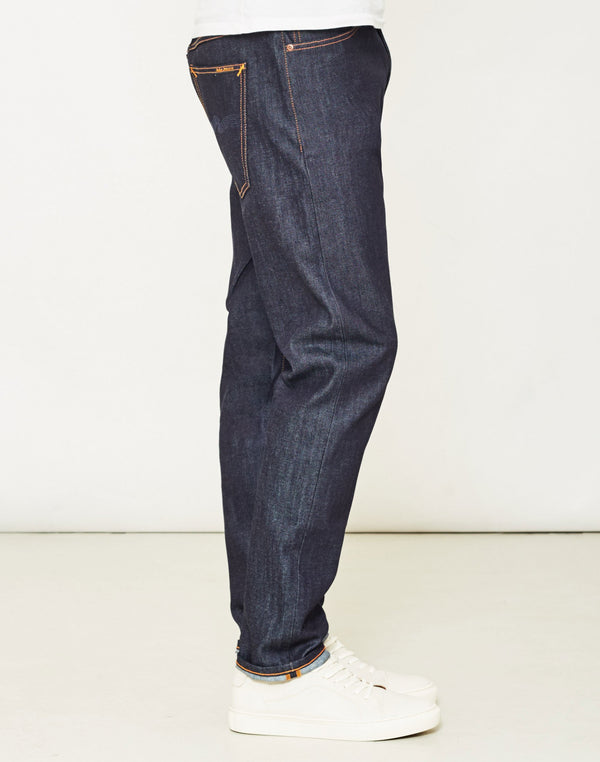 Nudie Jeans Co - Brute Knut Dry Navy Comfort Jeans
