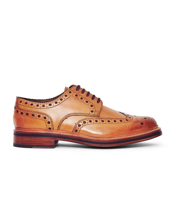 Grenson - Archie Leather Brogue Tan