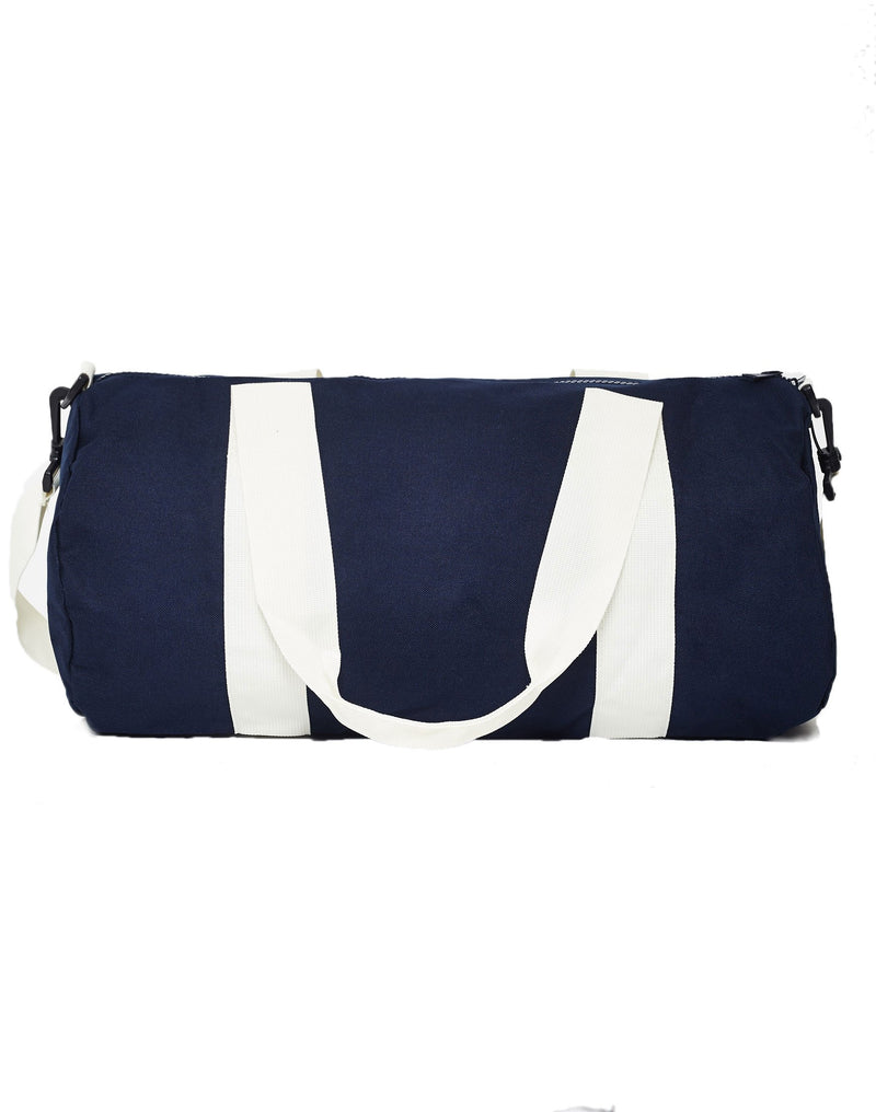 The Idle Man - Barrel Bag Navy & White