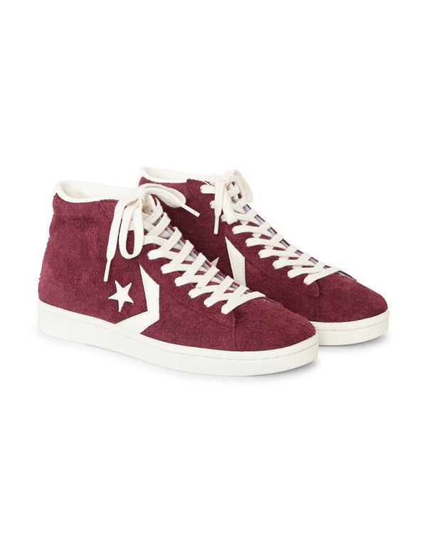 Converse - Pro Leather '76 Suede Mid Burgundy