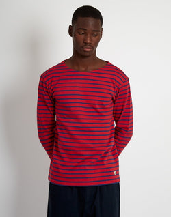 Armor Lux - Mariniere Heritage Long Sleeeve T-Shirt Red & Navy