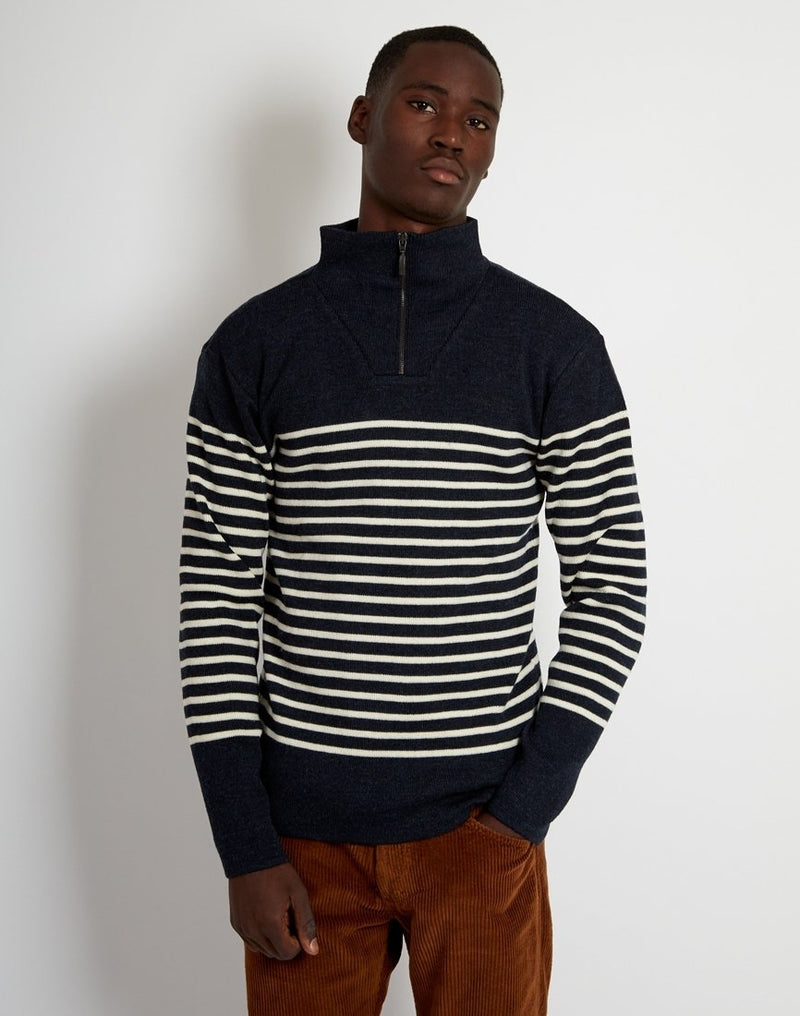 Armor Lux - Pull Camionneur Heritage Jumper Navy & White