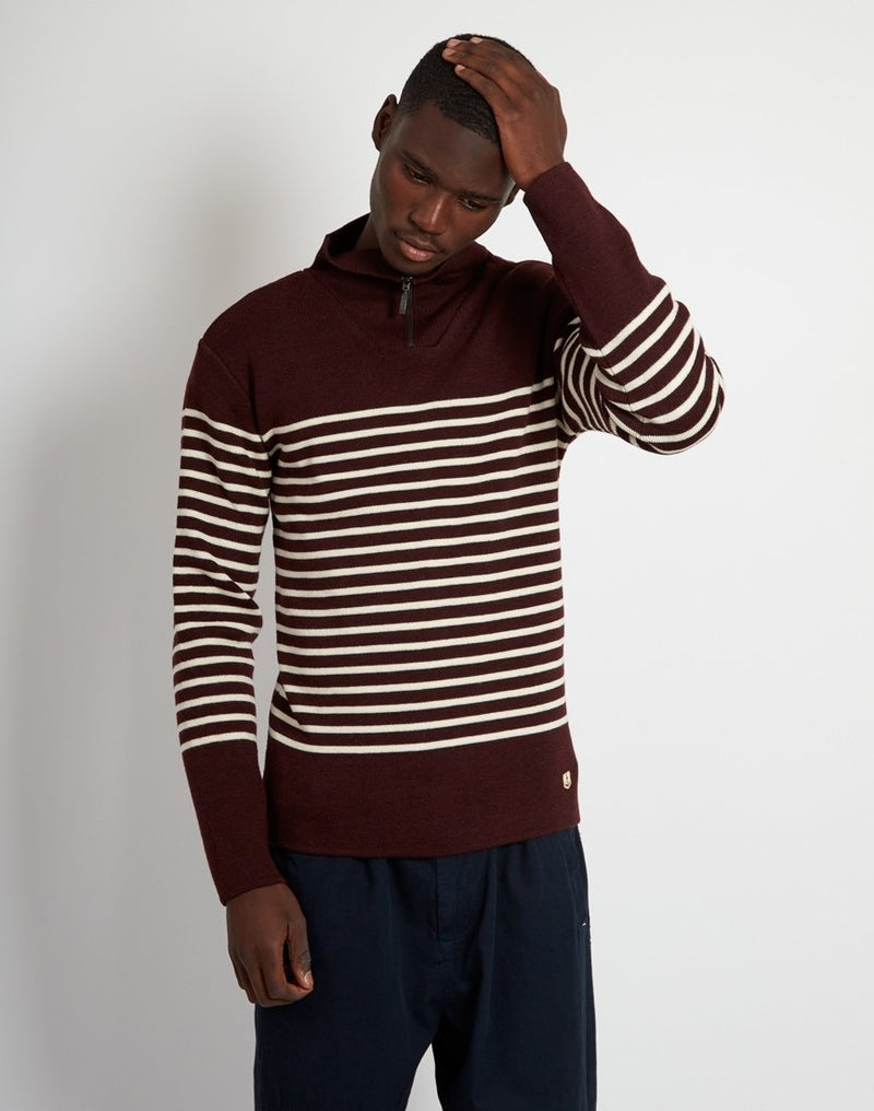 Armor Lux - Pull Camionneur Heritage Jumper Red & White