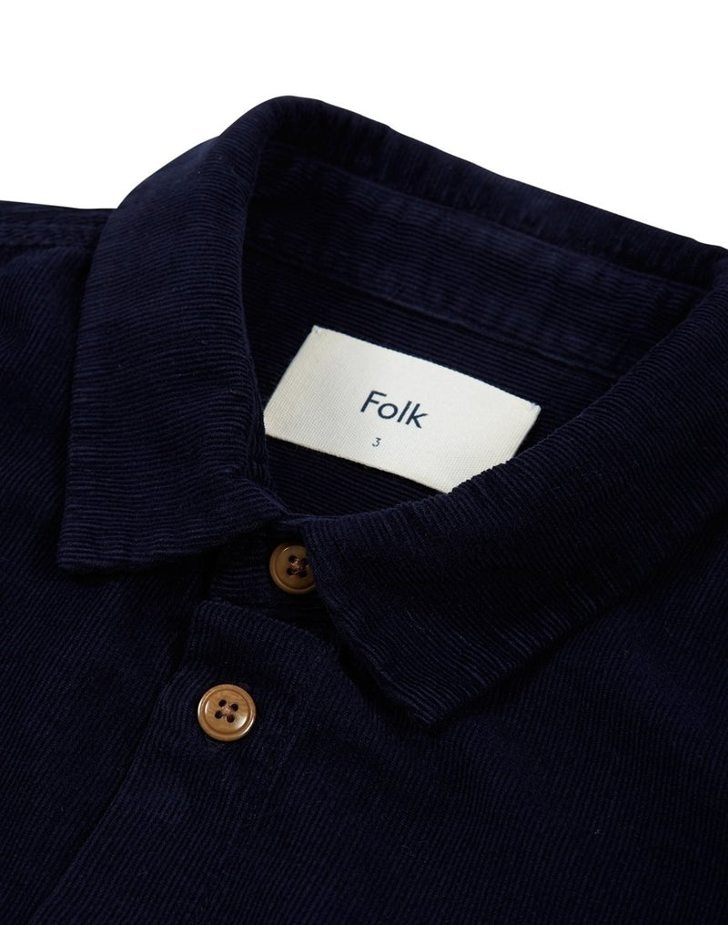 Folk - Baby Cord Shirt Navy Blue