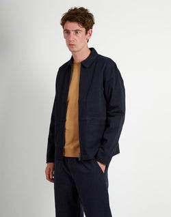 Folk - Zip Through Shirt Navy