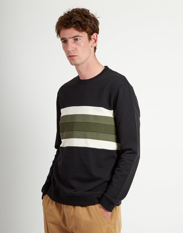 Folk - Panel Sweatshirt Black