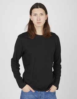 The Idle Man - Organic Cotton Long Sleeve T-Shirt Black