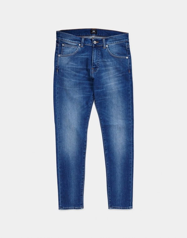 Edwin ED-85 Slim Tapered Drop Crotch Jeans, CS Power Blue Denim