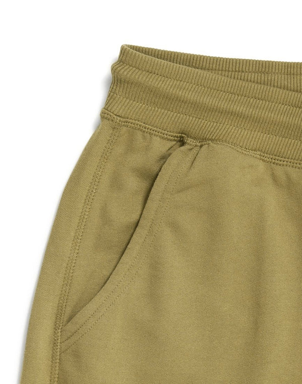 The Idle Man - Loopback Jersey Shorts Green