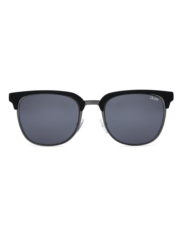 Quay Australia - Flint 1.3 Sunglasses Black With Smoke Lens