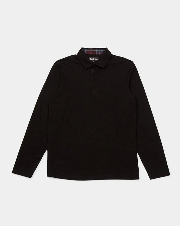 Barbour - Dunnet Long Sleeve Polo Shirt Black