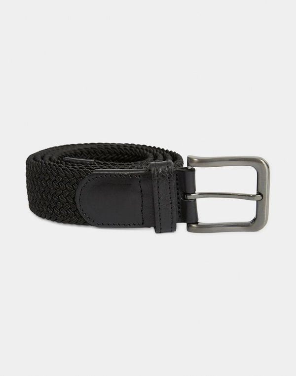 The Idle Man - Elasticated Weave Belt Black