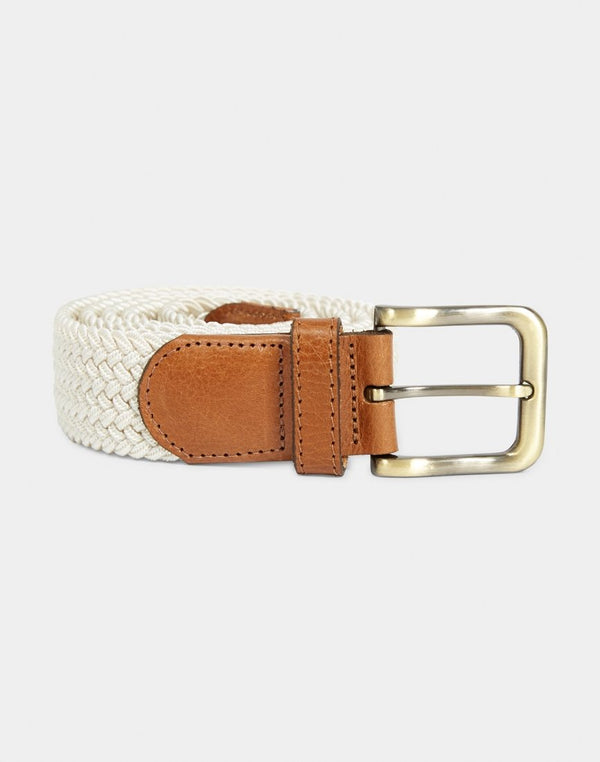 The Idle Man - Elasticated Weave Belt Stone