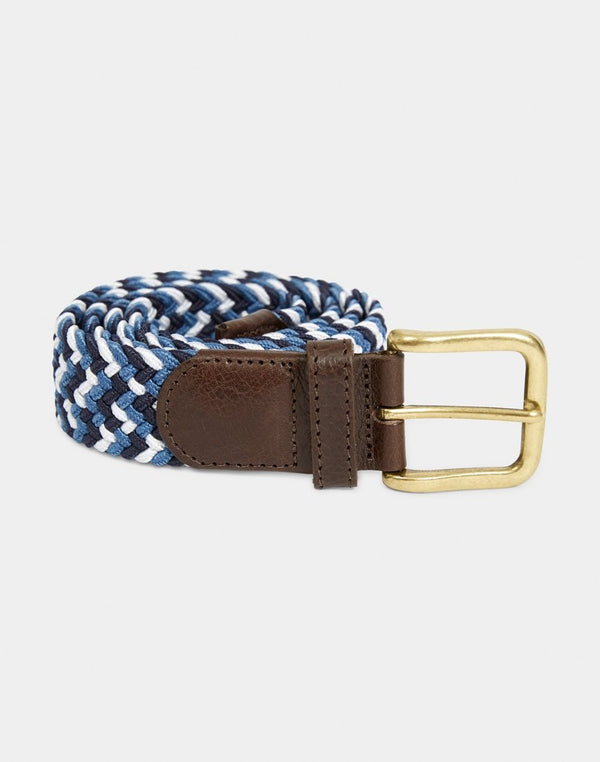 The Idle Man - Elasticated Weave Belt Multi Blue