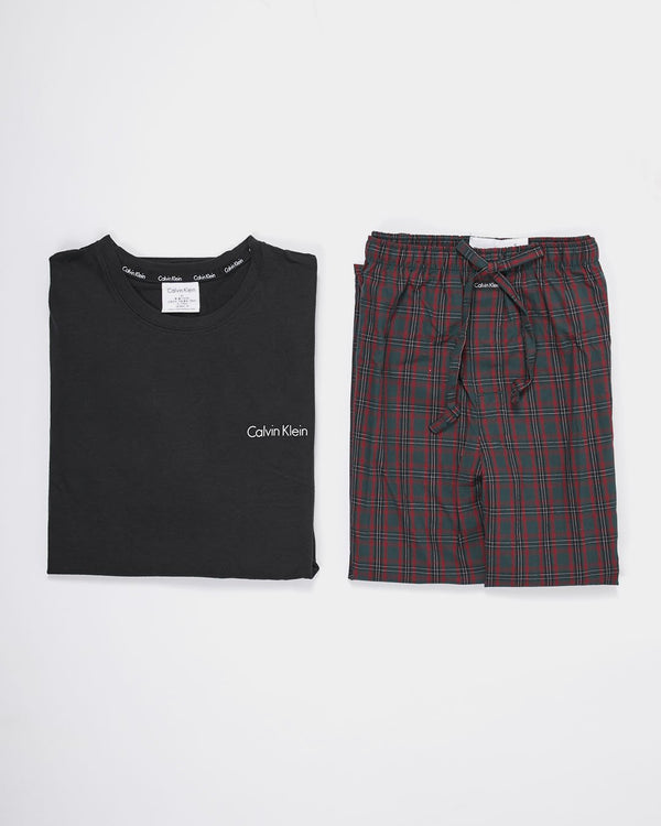 Calvin Klein Underwear - PJ Pant & Long Sleeved Crew T-Shirt Black