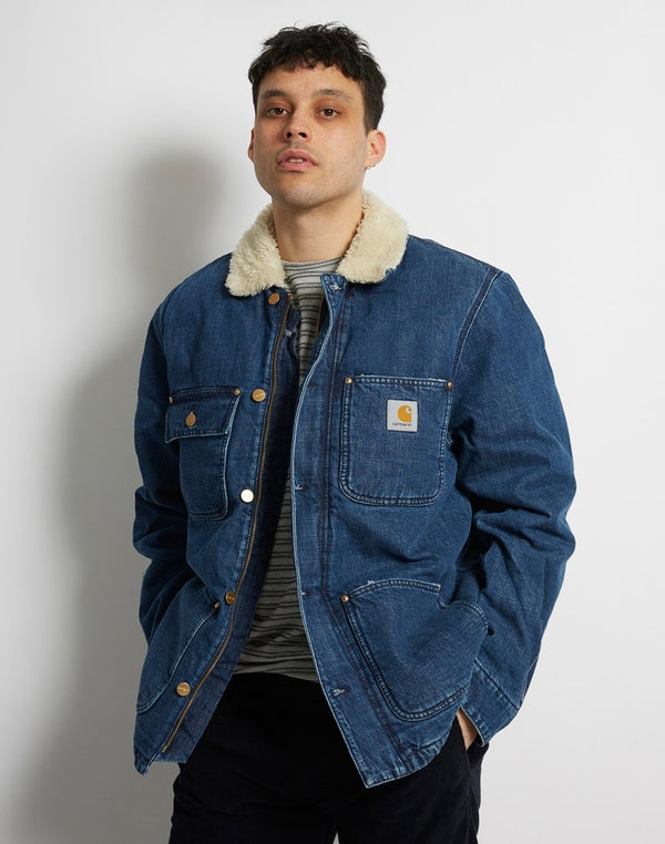 Carhartt WIP - Fairmount Coat Blue Dark Stone Washed