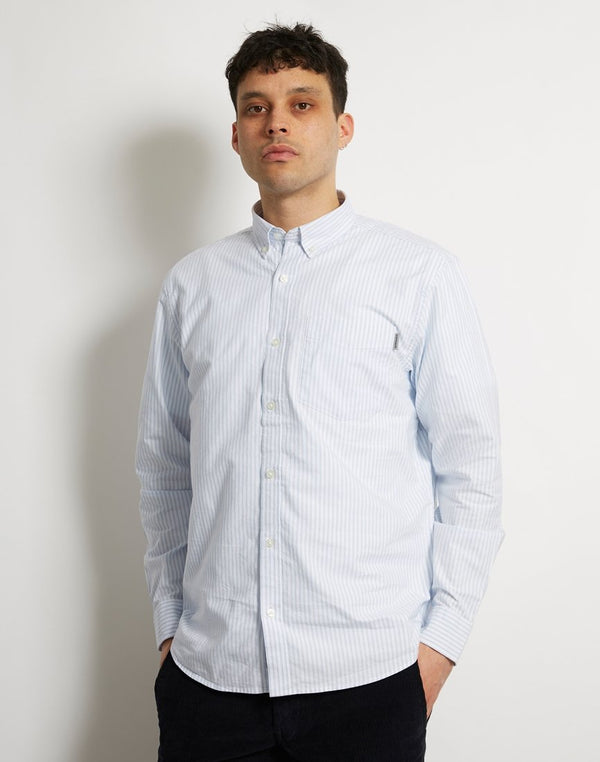 Carhartt WIP - Long Sleeve Karev Shirt Blue