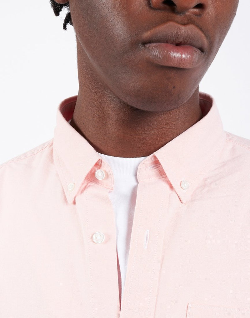 Carhartt WIP - Long Sleeve Button Down Pocket Shirt Pink