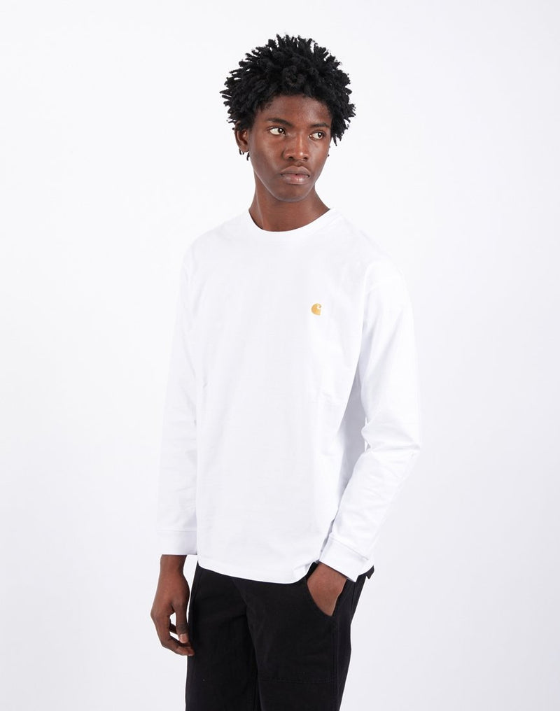 Carhartt WIP - Chase Long Sleeve T-Shirt White