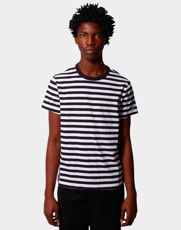 Champion - Creck Neck Stripe T-Shirt Black & White