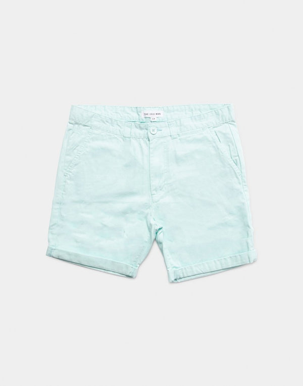 The Idle Man - Chino Shorts Mint Green