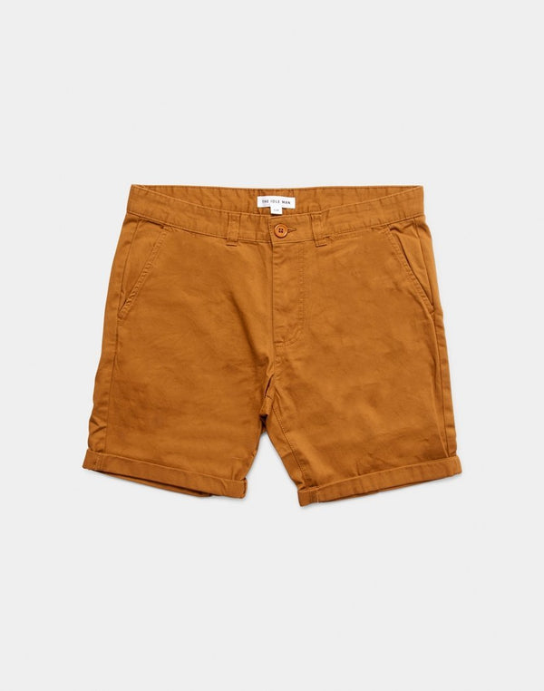 The Idle Man - Chino Shorts Tobacco