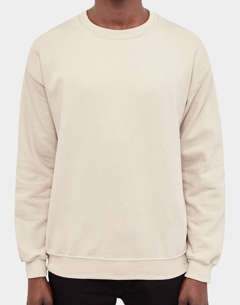 The Idle Man - Basic Sweatshirt Sand