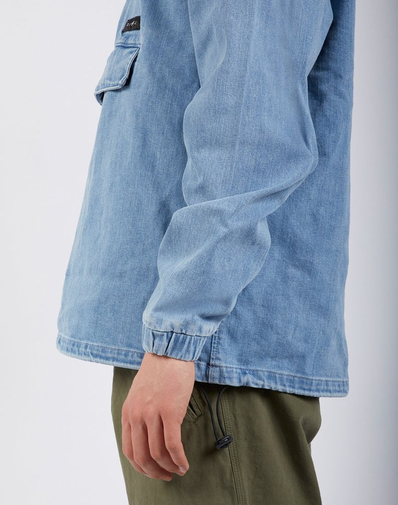 Edwin - Hooded Popover Jacket Light Stone