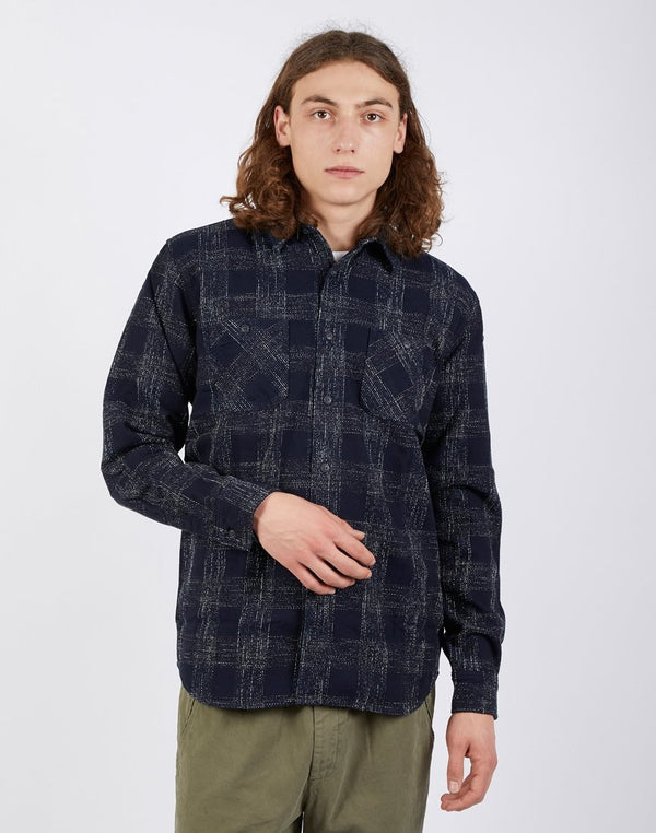 Edwin - Long Sleeve Labour Shirt Indigo