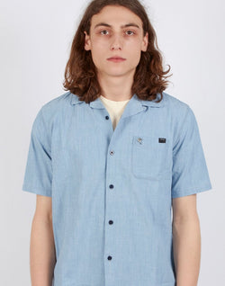 Edwin - Short Sleeve Resort Shirt Blue