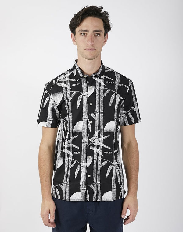 Edwin - Short Sleeve Nimes Printed Shirt Black