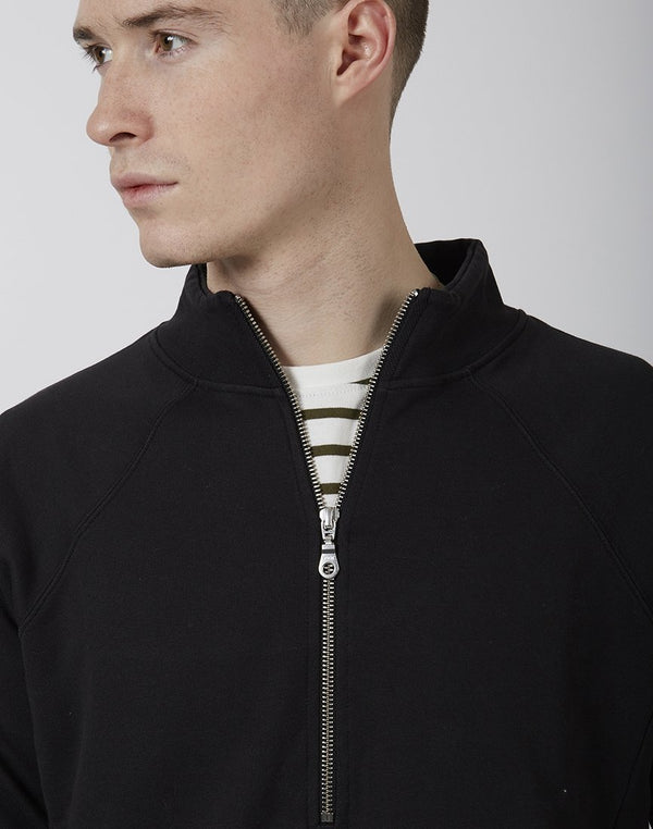 Folk - Rivet Funnel Neck Jumper Black
