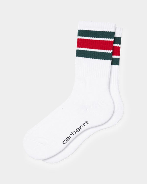 Carhartt WIP - Grant Socks White Red & Green