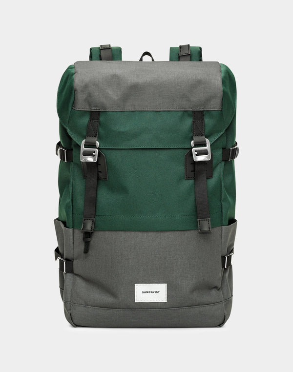 Sandqvist - Harald Backpack Green & Grey