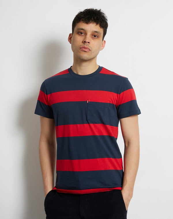 Levi's - Set-in Sunset Pocket Short Sleeve Tee Red & Navy