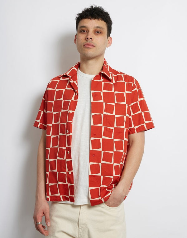 Levis Vintage Clothing - 1950 Short Sleeve Atomic Print Red