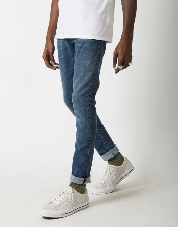 Nudie Jeans Co - Skinny Lin Jeans Mid Authentic Power Blue