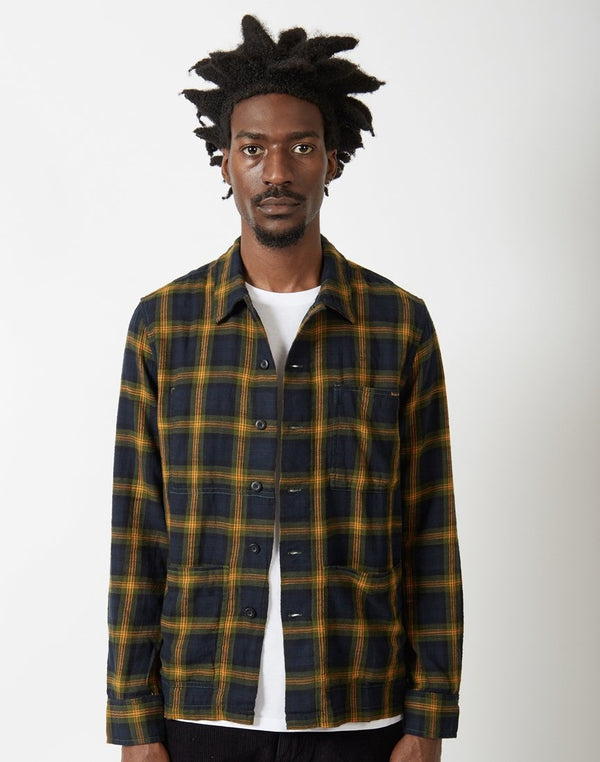 Nudie Jeans Co - Sten Checkered Shirt Black & Yellow