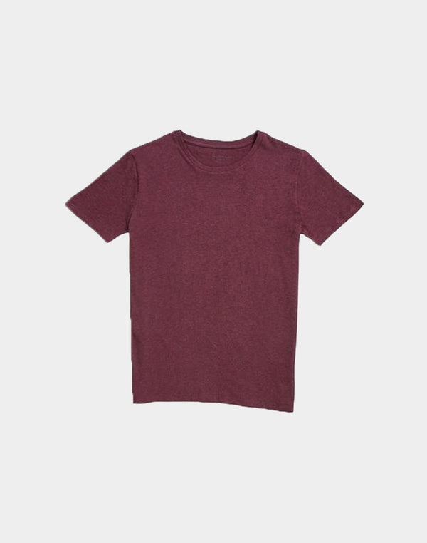 The Idle Man - Organic Crew Neck T-Shirt Purple