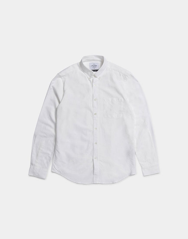 Portuguese Flannel - Belavista Button Down Long Sleeve Shirt Off White
